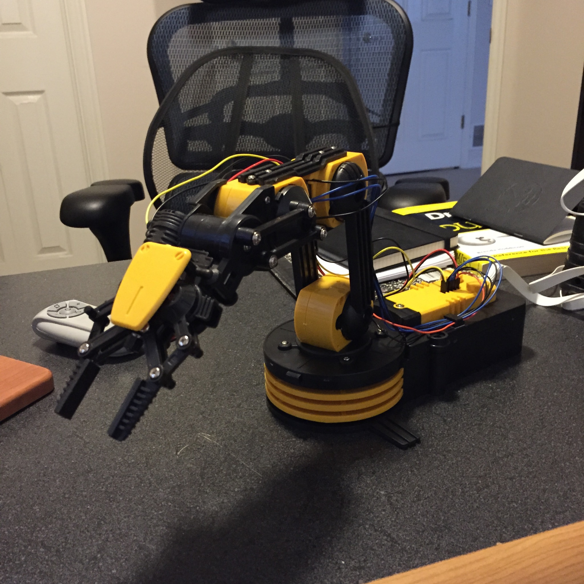 Completed robot arm